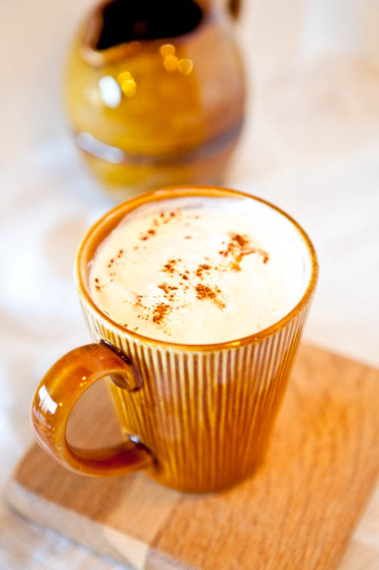 Pumpkin Spice Latte in brown mug