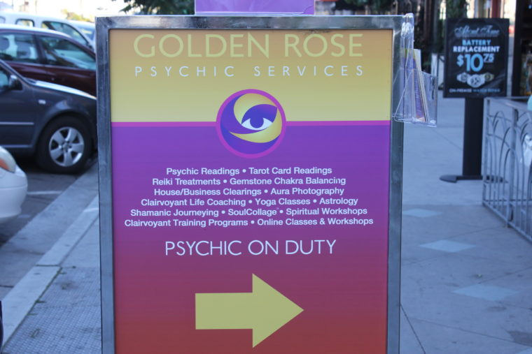 Psychic on duty sign