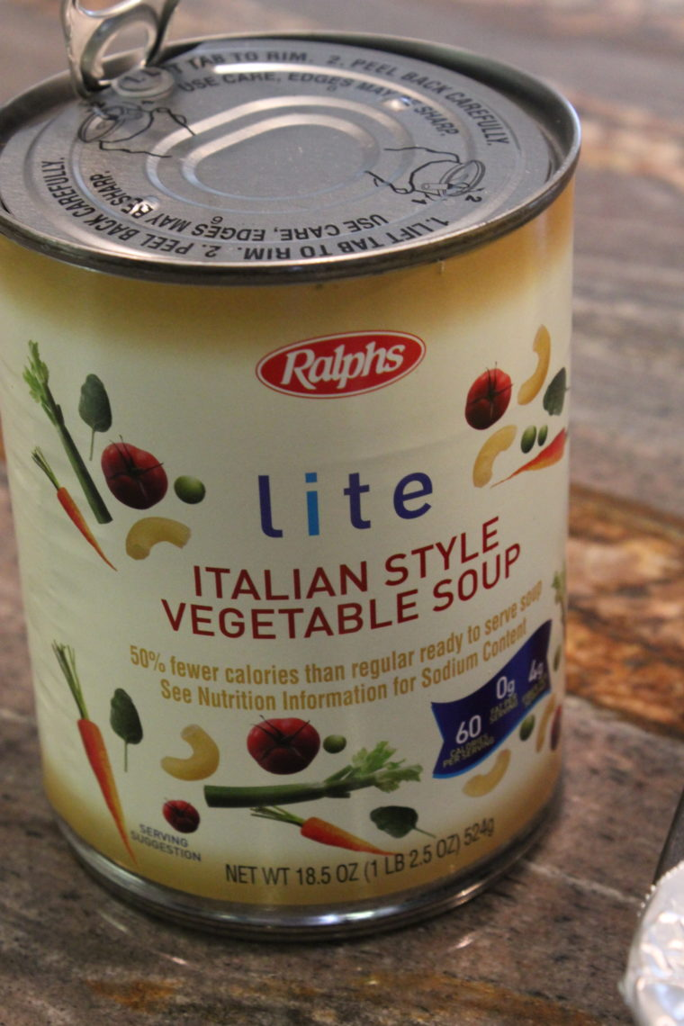Can of Lite Italian Style Vegetable Soup