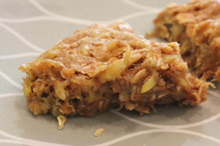 Slice of Biggie Microwave Banana Oat Cakes