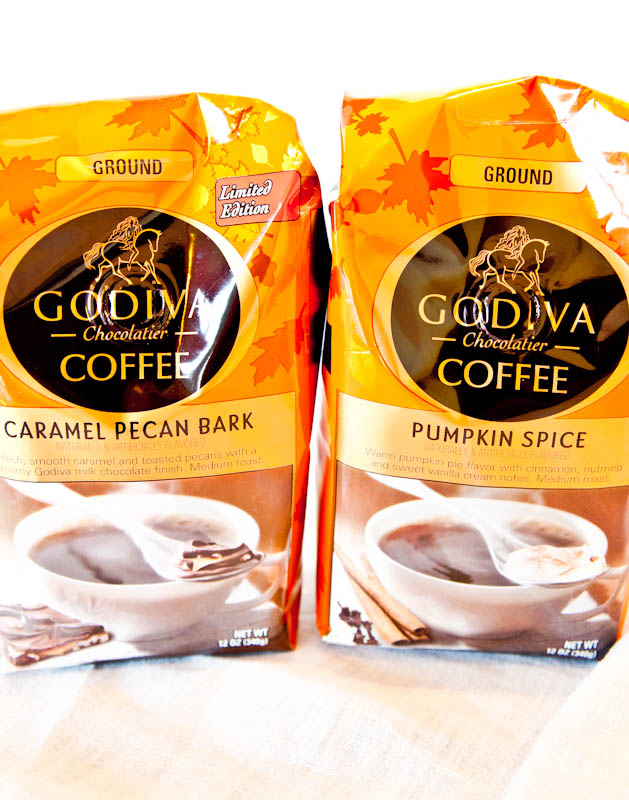 Bags of Godiva flavored coffee