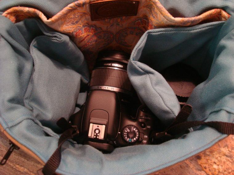 New DSLR in camera bag