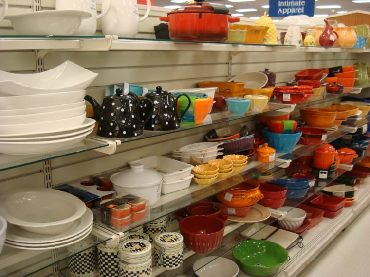 Shelves of various cook and bakeware