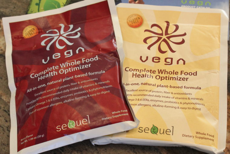 Two packages of Vega Smoothie Optimizers