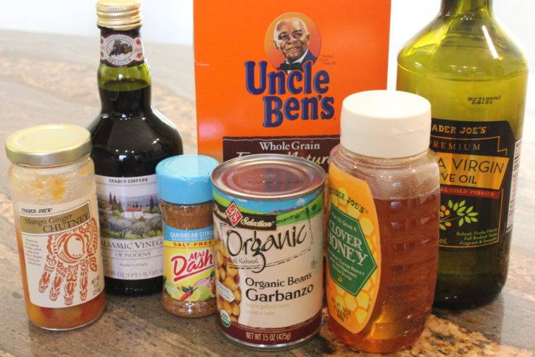 Ingredients needed to make Mango & Balsamic Rice, Beans, & Mixed Vegetables