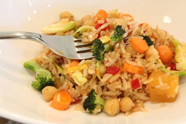 Szechuan Shrimp Stir Fry with Fried Rice - Averie Cooks