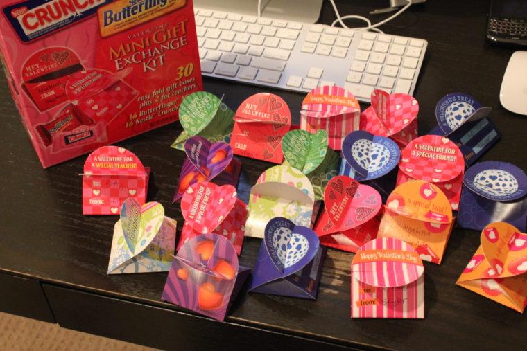 Finished Valentines on desktop