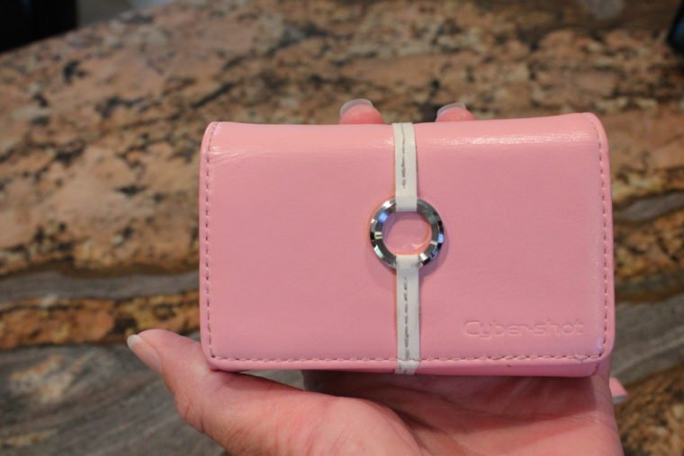 Pink case for Sony camera