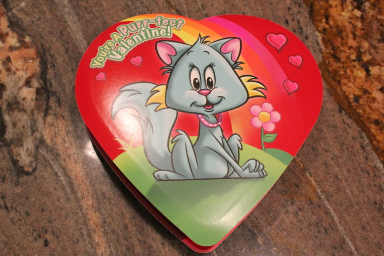 Box of chocolates with cat on front