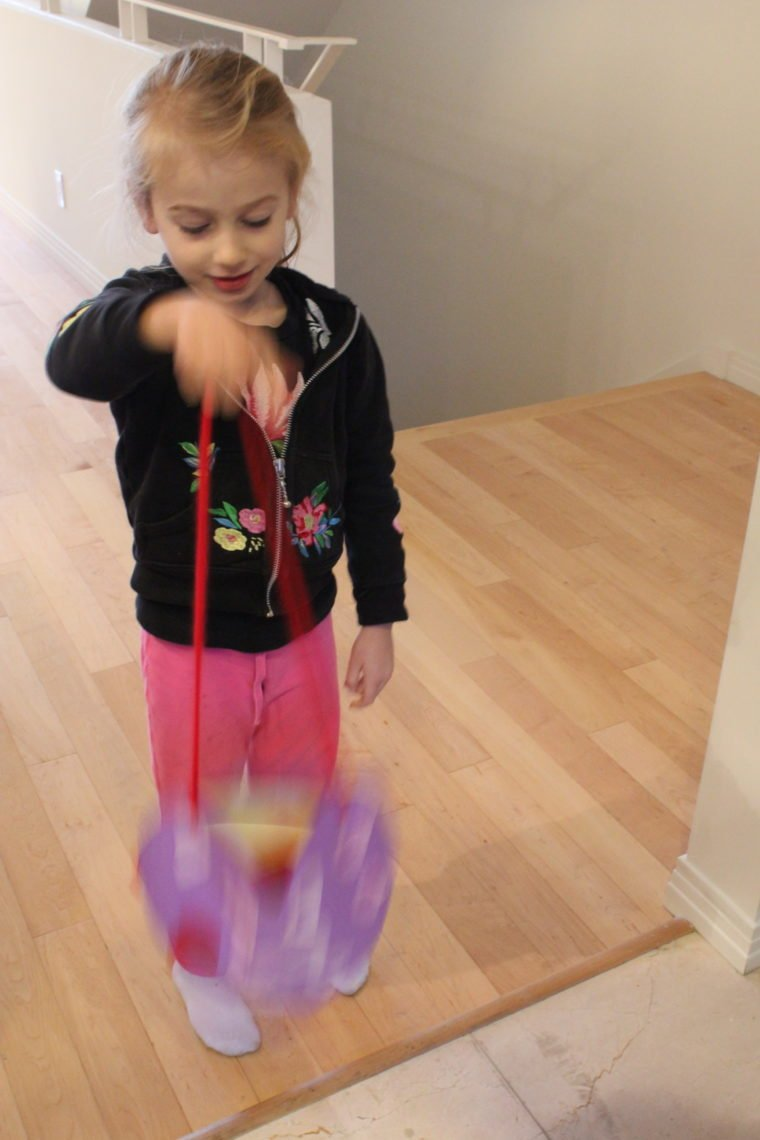 Young girl holding her Valentines purse