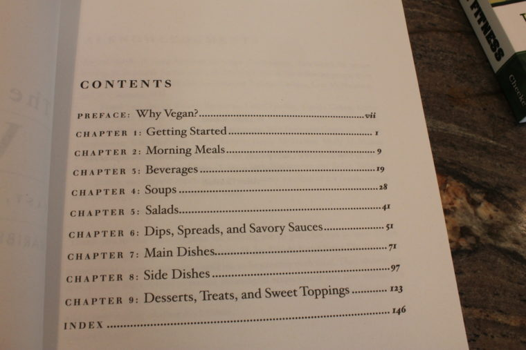 Chapter contents in book