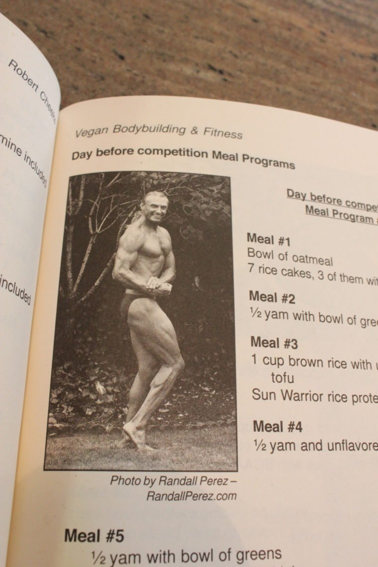 Page in oak with man doing a fitness pose