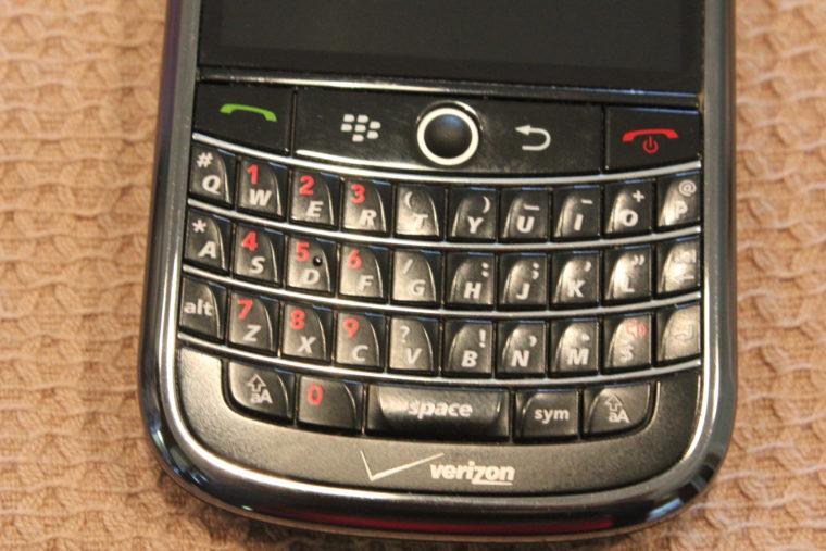 BlackBerry Phone keypad