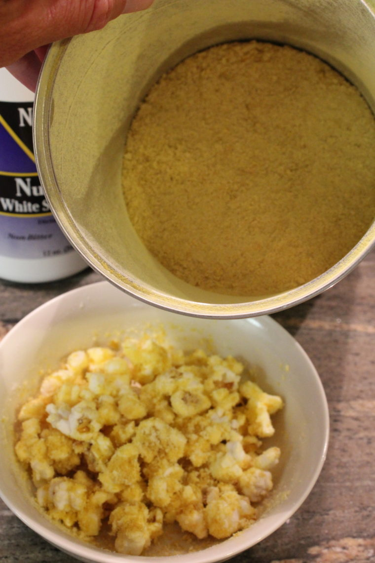 Inside container of nutritional yeast