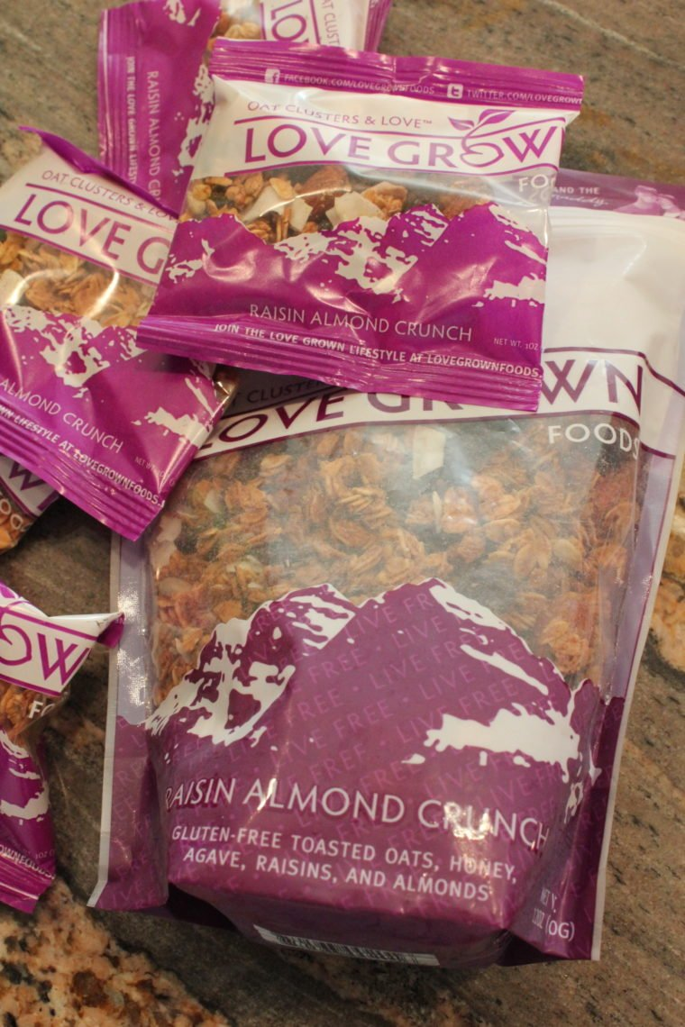 Bags of Raisin Almond Crunch Granola