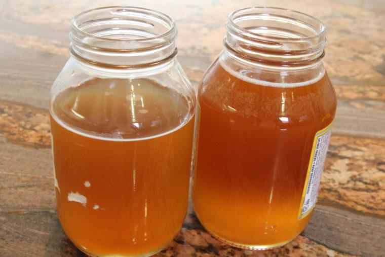 Two jars of Homemade Kombucha