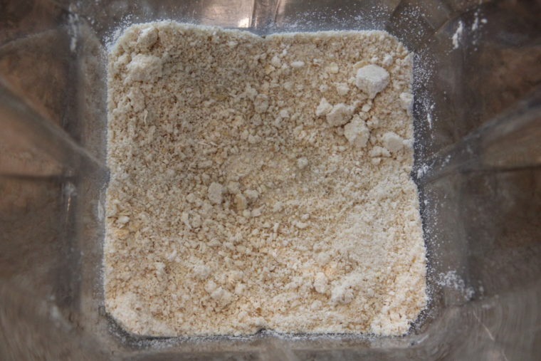Ground up cashews and oats