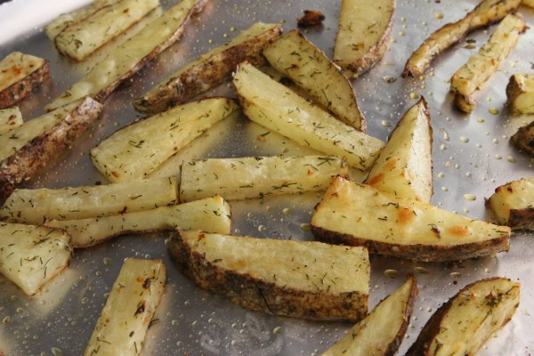 Lemon & Dill Roasted Potato Sticks