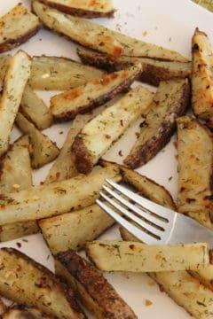 Lemon & Dill Roasted Potato Sticks