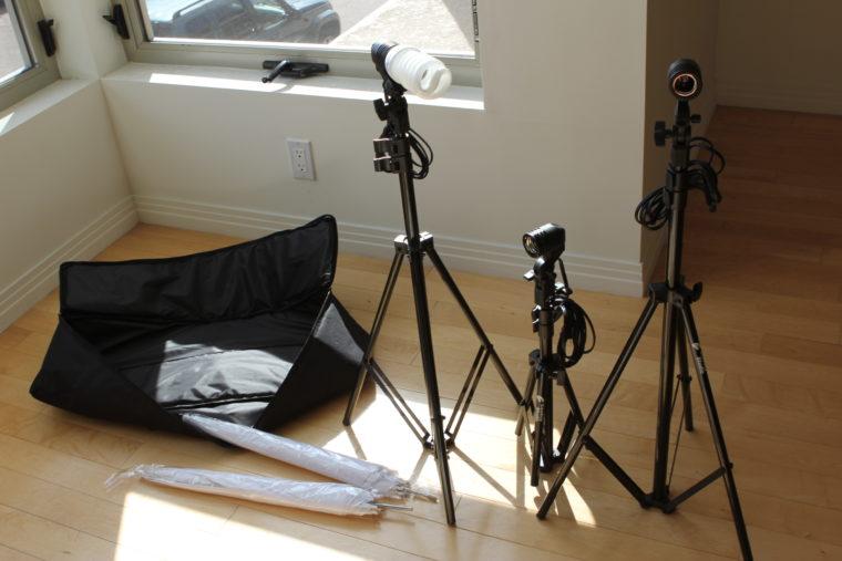 Portable lighting studio set up