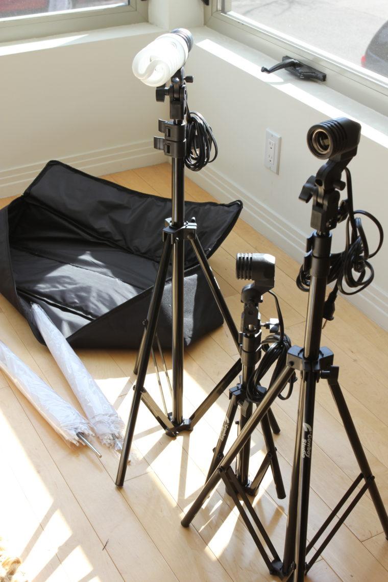 Lighting Studio equipment set up