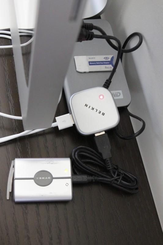 USB Hub plugged in