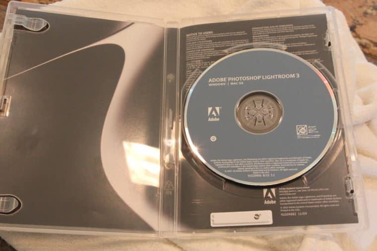 Disc of Adobe Photoshop Lightroom 3