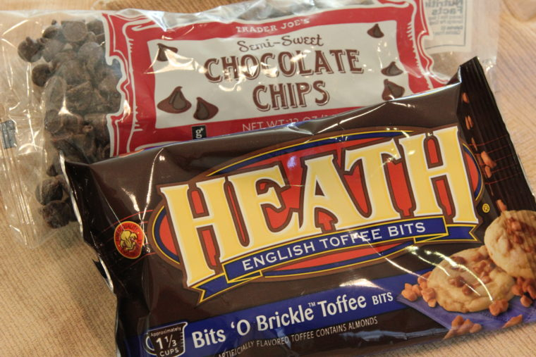 Bags of Heath Bits and Chocolate Chips