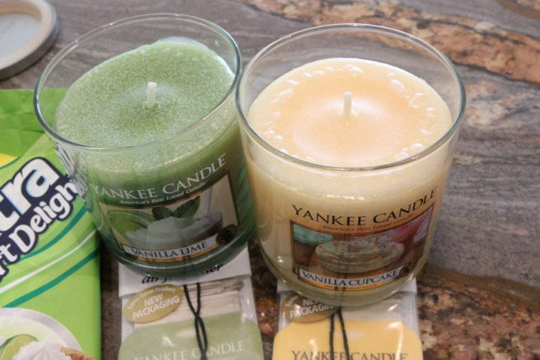 Close up of Yankee Candles