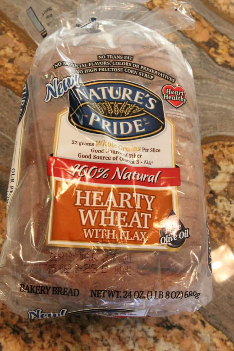Loaf of Nature's Pride Hearty Wheat Bread with Flax