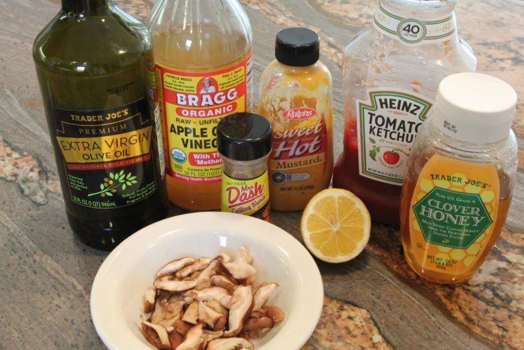 Ingredients needed to make Sweet & Sour 'Shrooms