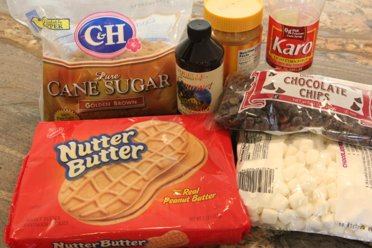 Ingredients needed to make No-Bake Nutter Butter Special K Bars