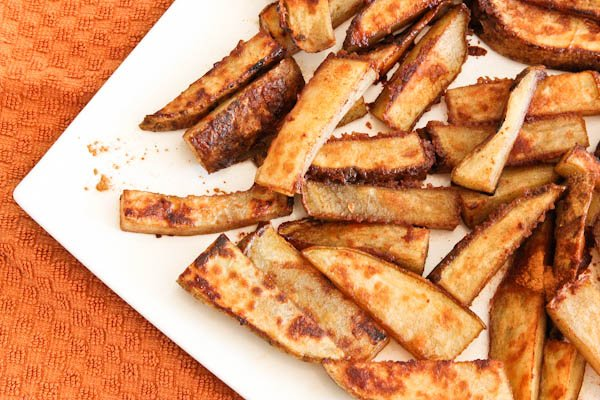 Cinnamon Sugar & Ginger Roasted Potato Sticks