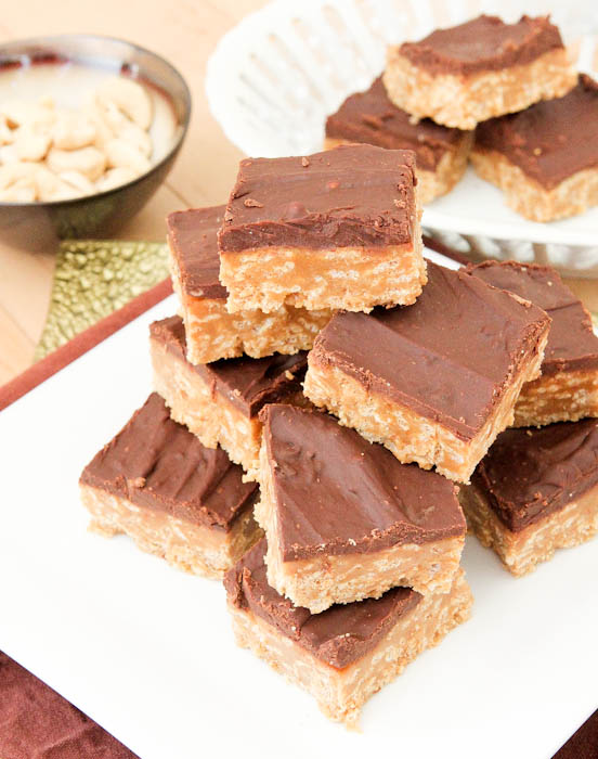 Overhead of No-Bake Nutter Butter Special K Bars