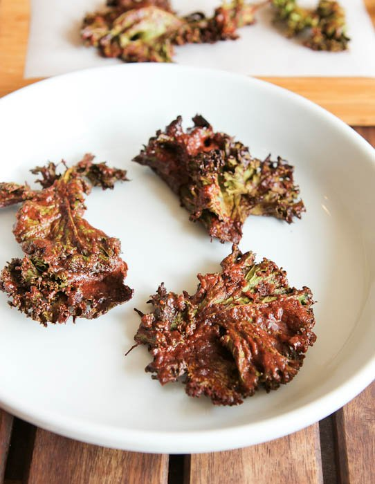 Chocolate Coconut Kale Chips