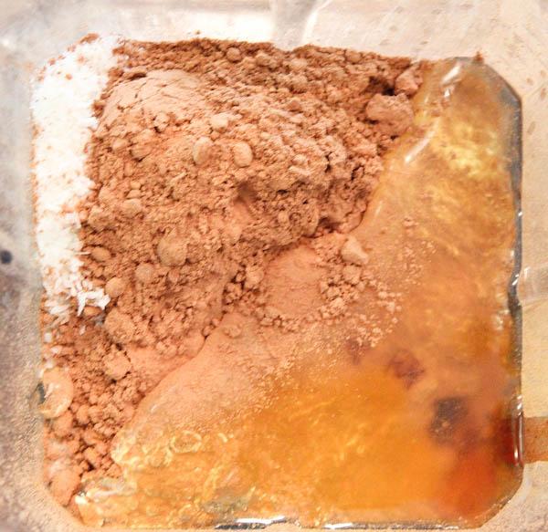 ingredients mixed in blender
