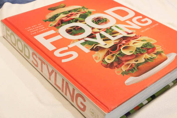 Food Styling Book on countertop
