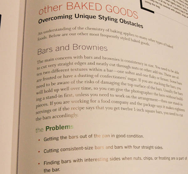 Page in book with Other Baked Goods- Overcoming Unique Styling Obstacles