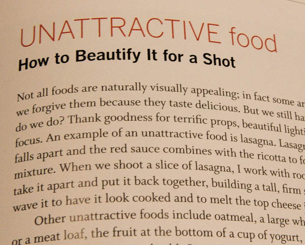 Book page about Unattractive Food - Hot to Beautify It for a Shot