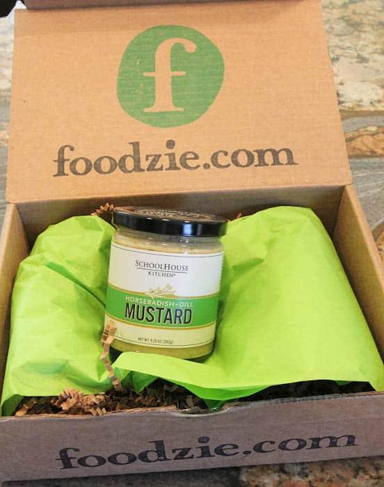 Jar of horseradish mustard