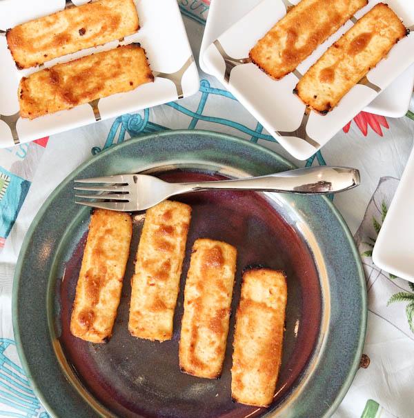 Overhead of finished Peanut Sauce Baked Tofu