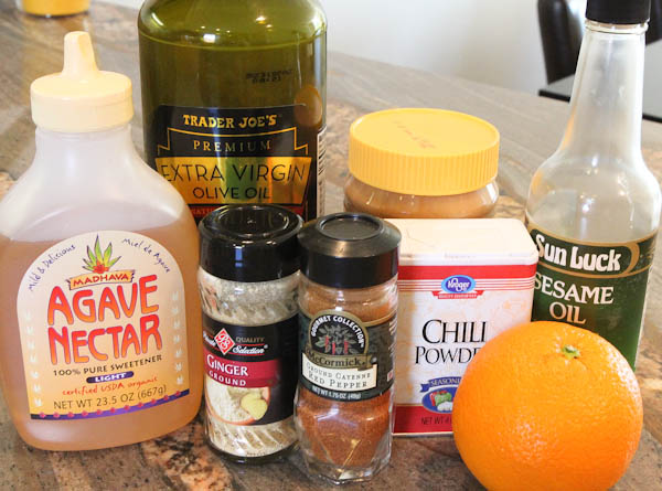 Ingredients needed to make Peanut Sauce Baked Tofu