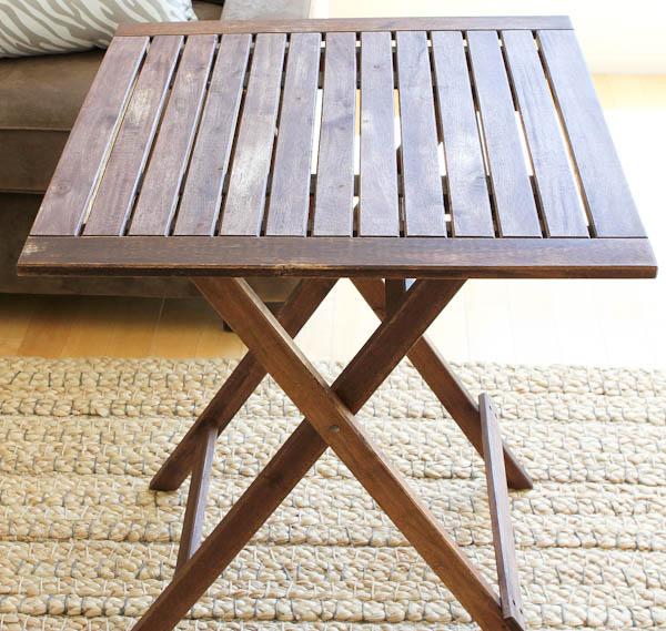 teak wood folding table