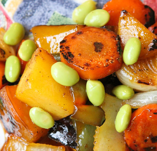 Apple Glazed Vegetable & Edamame Stir Fry