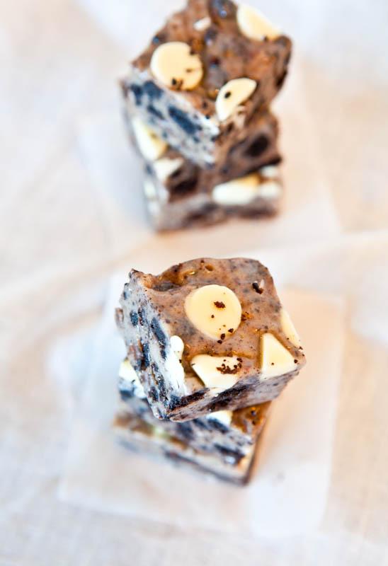 White Chocolate Cookies & Cream Fudge