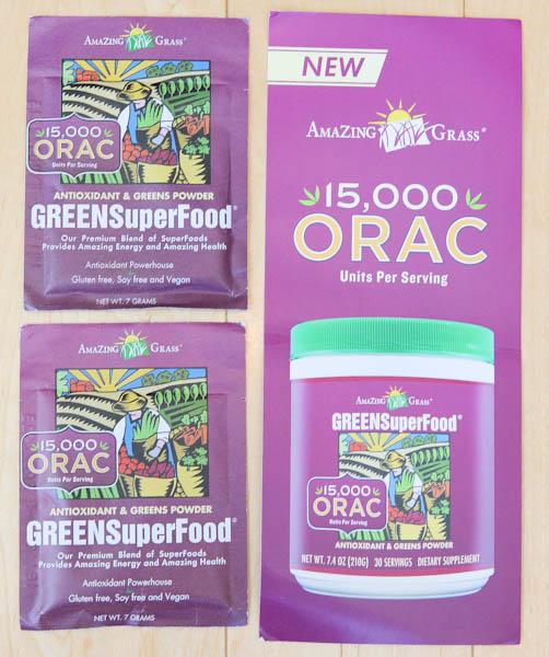 Amazing Grass ORAC Green Superfood Powder packets