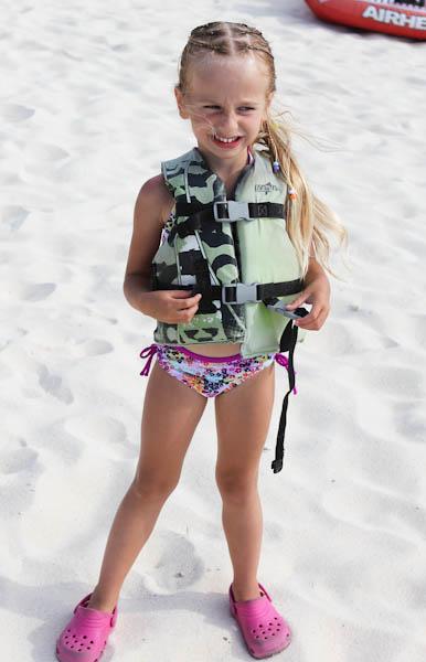 skylar wearing life jacket