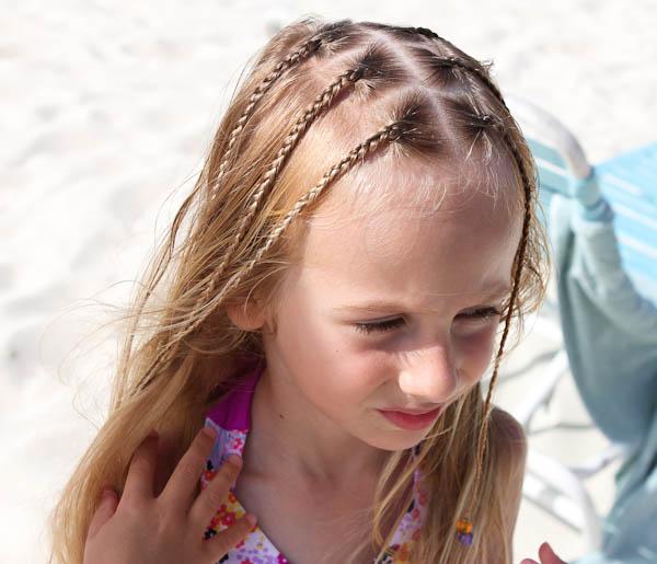 Skylar getting braids