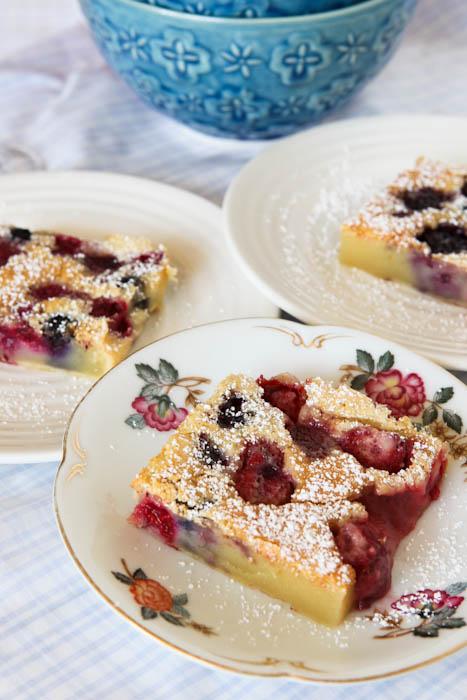 Three Mixed Berry Clafoutis
