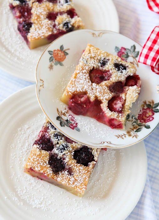 Mixed Berry Clafoutis overhead